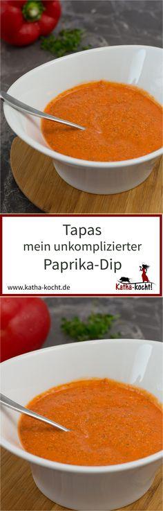 Dieser super unkomplizierte Paprika-Dip ist perfekt als Begleiter zu Tapas oder auch zum Raclette - er ist nussig und vegan, das Rezept gibt es auf katha-kocht!