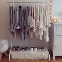 New bedroom wardrobe bed clothing racks Ideas Bedroom Ideas For Teen Girls, Teen Girl Bedrooms, Bedroom Wardrobe, Blue Rooms, Aesthetic Bedroom, Decorate Your Room, Trendy Bedroom, My New Room, Bedroom Decor