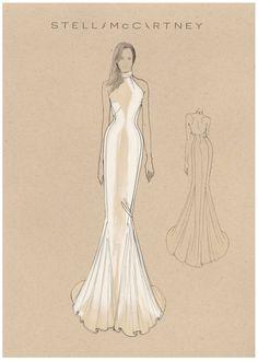 Stella McCartney Meghan Markle's evening dress back front