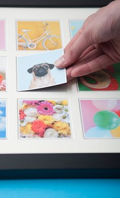 This handcrafted wooden wall frame is magnetic allowing you to switch the little photo magnets, keeping your home decor fresh and creative always! The photo magnets can be made from your photos from Instagram, camera roll or desktop. You can order both at Sticky9.com.