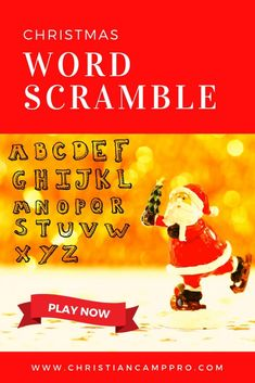 Playing a fun Christmas Word Scramble game is the perfect way to quickly and easily bring holiday excitement to your next event.
