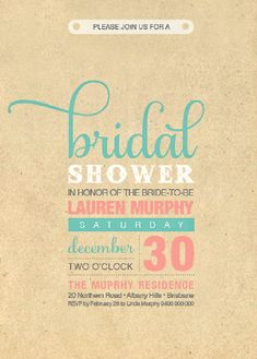 Wedding Planning Ideas with 25 Awesome Bridal Shower Invitation Designs | Wedding Photography Design