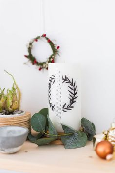 Make this DIY Advent Candle to countdown the days!