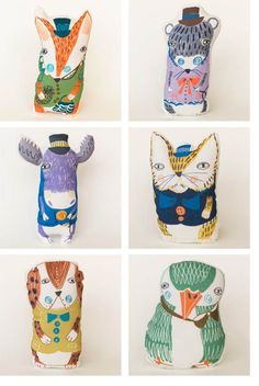 These are Plingsulli toys. They are designed by Ulrika Gustafsson, a Swedish children's book illustrator Softies, Muñeca Diy, Hamster, Art Textile, Fabric Toys, Soft Dolls, Soft Sculpture, Diy Toys, Gifts For Boys