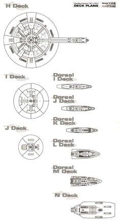 U.S.S Enterprise NCC-1701A Deck Plans