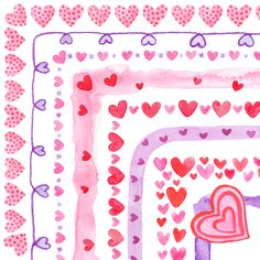 Celebrate Valentine's Day with hand painted, watercolor borders. #clipartforteachers #tptclipart #valentineclipart #valentinesdayclipart #heartclipart Valentines Games, Valentines Day Clipart, Valentine Theme, Valentine Crafts, Grade My Teacher, Watercolor Border, Heart Clip Art, Heart Border, Classroom Activities