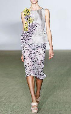 Pansy Mussoline Dress by Giambattista Valli for Preorder on Moda Operandi
