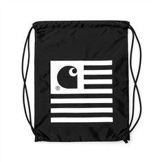 CARHARTT State Bag || Leichter Turnbeutel/Gymsack mit stylischem Carhartt-Print auf der Vorderseite