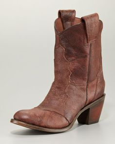 Leon Cowboy Ankle Boot, Brandy by Ash at Neiman Marcus.