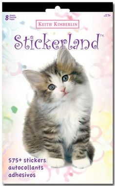 Keith Kimberlin Kittens - Stickerland Pad - 8 page