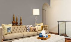 taubmans paint cool calming tribal living room