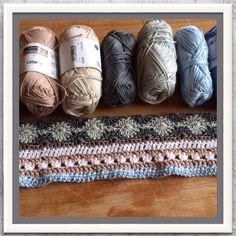 Crochet Along 2014  Vorderingen van deken 1, week 1 tm 4