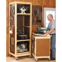 Another tool cabinet option.  DIY