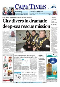 City divers in dramatic deep-sea rescue mission