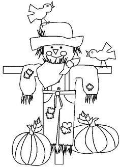 Fall & Thanksgiving day coloring pictures