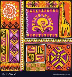 african design elements - Buy this stock vector and explore similar vectors at Adobe Stock Tribal Images, Tribal Art, Batik Pattern, Pattern Art, African American Art, African Art, Twig Art, African Paintings, Tribal Patterns