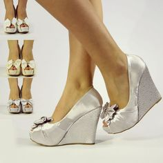 For height, comfort and walking on grass. Outdoor Wedding Shoes, Casual Wedding, Graduation Shoes, Wedding Wedges, Aesthetic Shoes, Strappy Sandals Heels, Evening Shoes, Platform High Heels, Prom Shoes