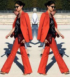 Laranja #streetstyle #conjuntinho #style #fashion #tendencia