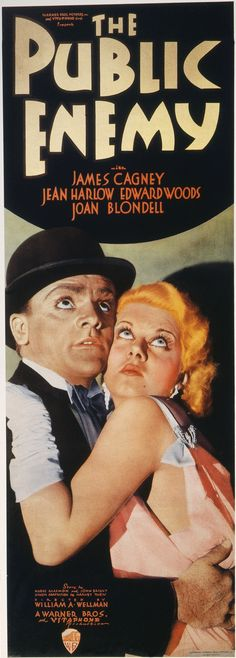The Public Enemy (1931) directed by William A. Wellman and stars James Cagney and Jean Harlow.