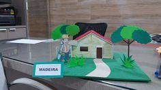 Maquete casa de madeira