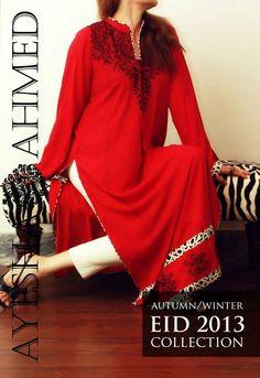 Ayesha Ahmed #AutumnDresses 2013 For Women