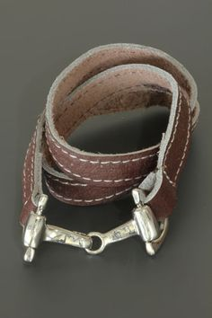 Wrapbracelet with horses bit for him and her at http://www.trendygoodies.nl