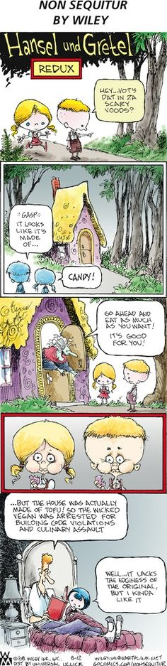 A new take on a literary classic. Non Sequitur Comic Strip, August 12, 2012 on GoComics.com
