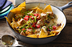 Here's Tex-Mex enchilada flavor the family loves simmered in a skillet with a creamy taco-seasoned sauce. The result: an easy, crowd-pleasing chicken dish.