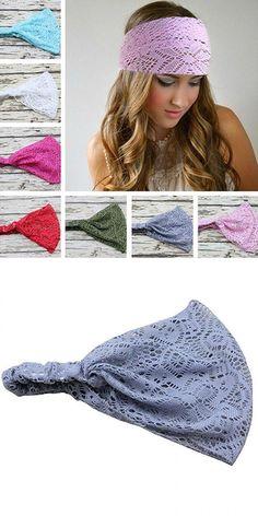 Warmer Knitted Turban Headband For Women Crochet Wool Headbands Bandana Knot Headwrap Bandage Girls Hair Accessories #4 Price Remains Stable Braiders