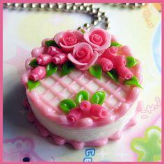 deviantART: More Like Fruit Heart Cake Necklace by cherryboop