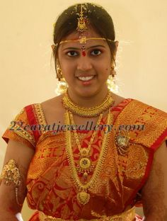 Jewellery Designs: Bride with Wedding and Reception Jewellery