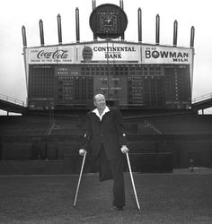 Bill Veeck At Comiskey Park Chicago 1960's by Photoscream, via Flickr