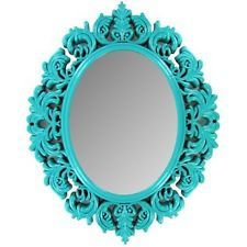 Victorian Style Mirror Hot Pink Purple Turquoise or Lime Green KIDS TEEN ROOM