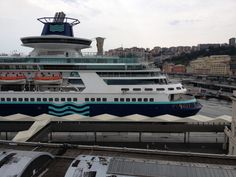 Pullmantur Sovereign in her new livery at Genoa July 2013