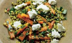 Carrot and mung bean salad, plus red lentil soup with fried tofu and chilli oil recipes | Yotam Ottolenghi