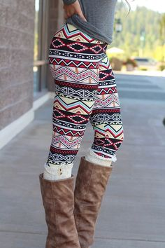So in style right now printed colorful leggings