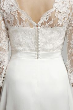 Ava Dress ~ Back Lace detail ~ Melanie Potro Bridal Couture 2014 Collection Bridal Gowns, Wedding Dresses, French Lace, Exclusive Collection, Dress Backs, Bridal Collection, Lace Detail, Ava, Corset