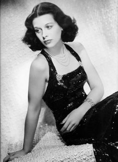 Hedy Lamarr + black sequin dress = NYE Goals