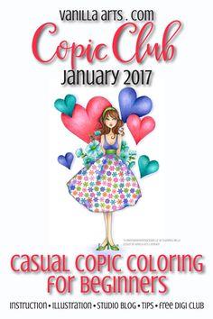Beginner & Casual Coloring Class- not your average paper piecing technique | VanillaArts.com