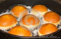 #Baking #Donuts In A #Pan @Dreamstime Stock Photography #dreamstime #Food #Fasching #krapfen #carinthia #Austria #sweets