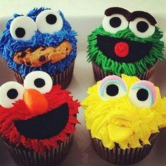 17. #sesame Street #Cupcakes - 50 des très jolis Cupcakes que vous ne #verrez jamais... → Food