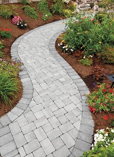 the curved lines of this sidewalk give it style and pizzazz it invites you to