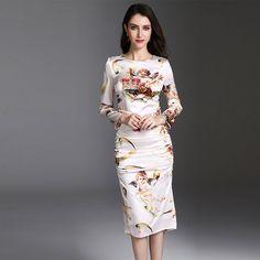 96c99bac03a  High  Quality 2018  New Designer  Fashion  Runway  Bodycon  Dress