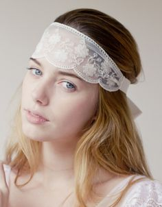 boho, head tie, head wrap, hippie, ivory, lace, vintage