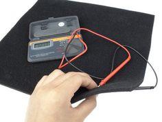Conductive Foam Sensor Changes resistance when compressed