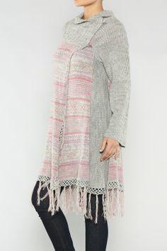 Fringe Long Cardigan #wholesale #fall #cardigan #sweater #pants #jacket #sweater #fashion #clothing #ootd #wiwt #shopitrightnow #graphics #patterns #holiday #fringe