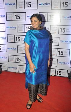 #ShabanaAzmi was seen attending the Lakme Fashion Week show wearing a Payal Khandwala tunic with printed palazzo pants and black slipons.  For more pictures click here : www.biscoot.com  #Bollywood #CelebrityPictures #Celebs #BollywoodActress #Biscoot #LakmeFashionWeek