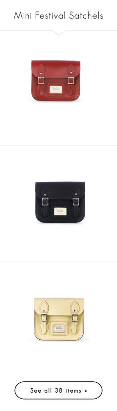 """""""Mini Festival Satchels"""" by leathersatchel ❤ liked on Polyvore featuring bags, handbags, red satchel purse, leather satchel handbags, handbag satchel, leather handbags, red leather purse, real leather purses, real leather handbags and mini satchels"""