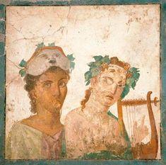 naples archeological museum - fresco from pompeii