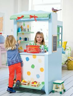 Kids shop, would be a great addition to the side of the playhouse outside